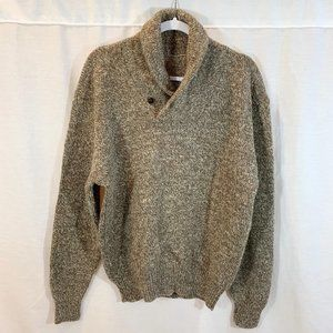 Unbranded Sweater Pullover Knit Wool Shawl Neck